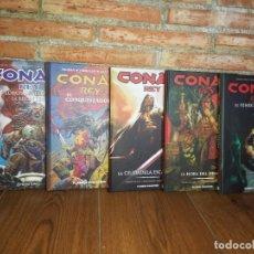 Cómics: CONAN REY COMPLETA 5 TOMOS PLANETA AGOTADOS Y DESCATALOGADOS IMPECABLES. Lote 218186792
