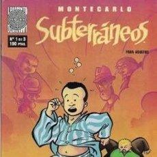 Cómics: SUBTERRÁNEOS #1. Lote 218924601