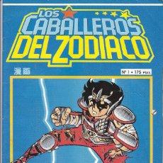Cómics: LOS CABALLEROS DEL ZODIACO Nº 1 MASAMI KURUMADA EDITADO POR PLANETA DEAGOSTINE EN 1993. Lote 219404706