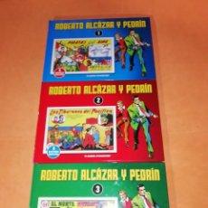 Cómics: ROBERTO ALCAZAR Y PEDRIN. Nº 1,2 Y 3. PLANETA 2010. CON 6 AVENTURAS COMPLETAS CADA UNO.. Lote 219429583