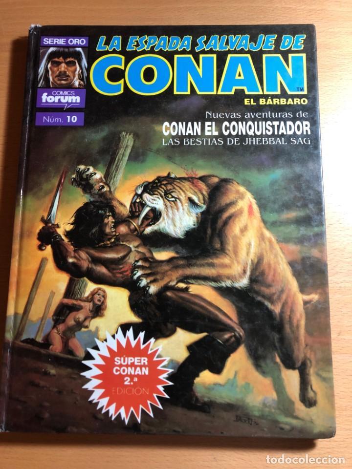 CONAN EL CONQUISTADOR . LAS BESTIAS DE JHEBBVAL SAG. SERIE ORO. COMICS FORUM Nº 10. PLANETA. (Tebeos y Comics - Planeta)