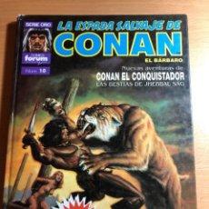 Cómics: CONAN EL CONQUISTADOR . LAS BESTIAS DE JHEBBVAL SAG. SERIE ORO. COMICS FORUM Nº 10. PLANETA.. Lote 220423531