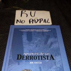 Cómics: JOE SACCO APUNTES DE UN DERROTISTA PLANETA AGOSTINI TAPA DURA. Lote 221621838