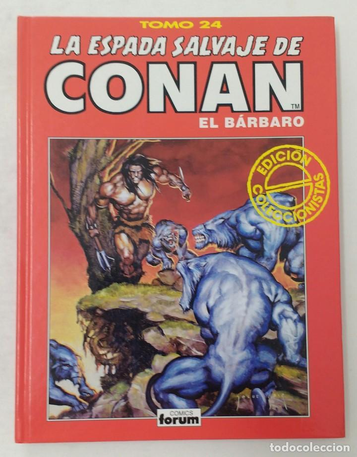 LA ESPADA SALVAJE DE CONAN. EDICIÓN COLECCIONISTAS. TOMO ROJO 24. PLANETA-LIBRO CARTONE (Tebeos y Comics - Planeta)