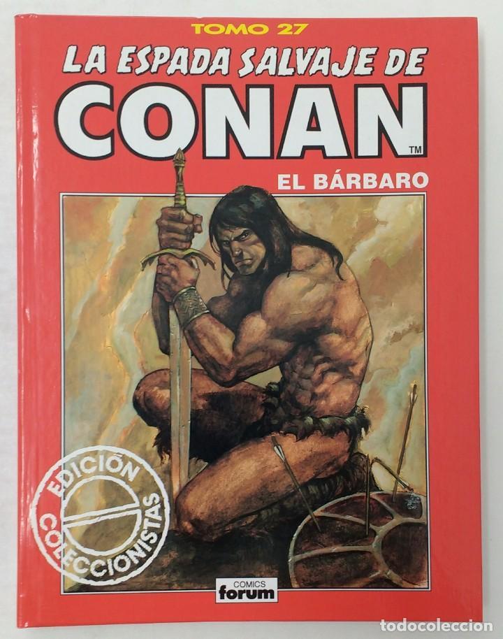 LA ESPADA SALVAJE DE CONAN. EDICIÓN COLECCIONISTAS. TOMO ROJO 27. PLANETA-LIBRO CARTONE (Tebeos y Comics - Planeta)