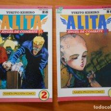 Cómics: ALITA ANGEL DE COMBATE Nº 1 Y 2 DE 6 - YUKITO KISHIRO - VIZ COMICS - PLANETA (7E). Lote 227988440