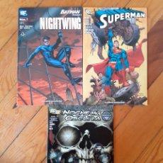 Cómics: LOTE DC . SUPERMAN NIGHTWING NOCHE MAS OSCURA. Lote 235256995