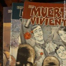 Cómics: THE WALKING DEAD / LOS MUERTOS VIVIENTES, N°S 1, 2 Y 3. Lote 235865965
