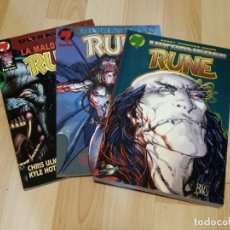 Cómics: RUNE POR BARRY WINDSOR SMITH. ULTRAVERSE. 3 TOMOS. Lote 236759190