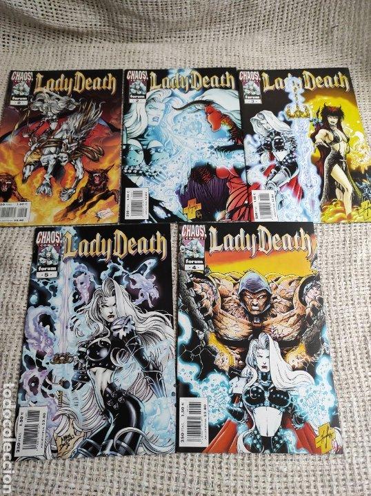 LADY DEATH - LOTE DE 5 EJEMPLARES - Nº 1 AL 5 / AUTOR: STEVEN HUGHES (Tebeos y Comics - Planeta)