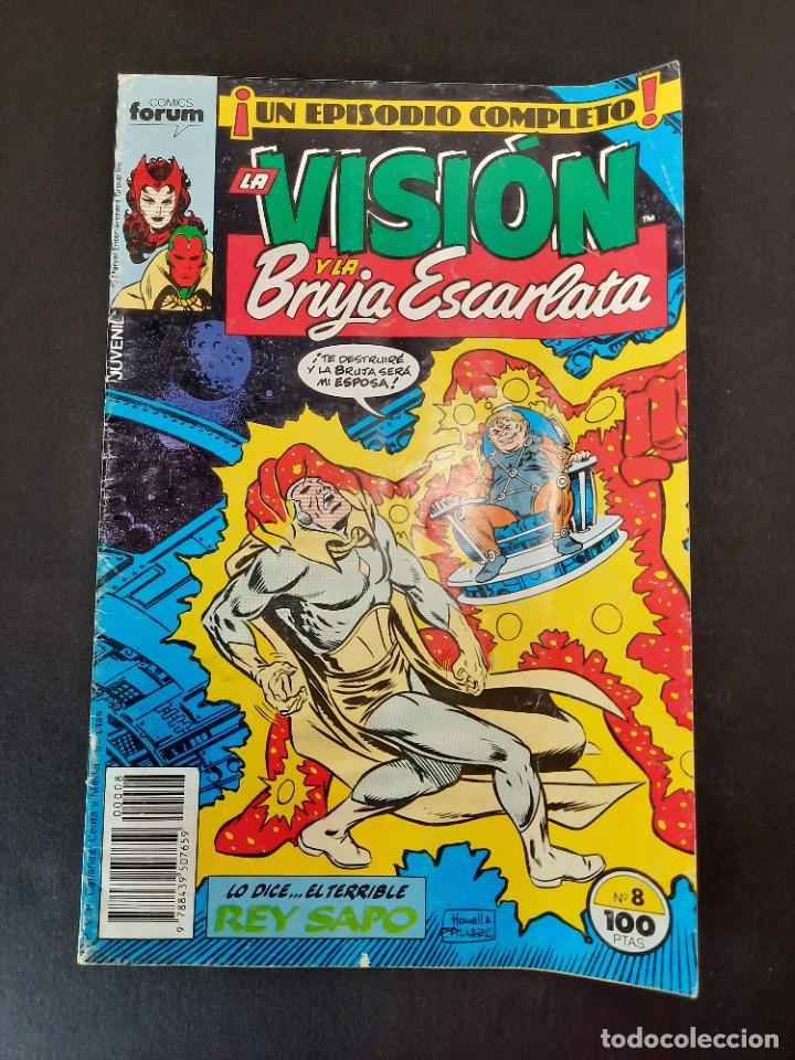 VISION Y LA BRUJA ESCARLATA, LA (1988, PLANETA-DEAGOSTINI) 8 · X-1988 · LO DICE EL TERRIBLE REY SAPO (Tebeos y Comics - Planeta)