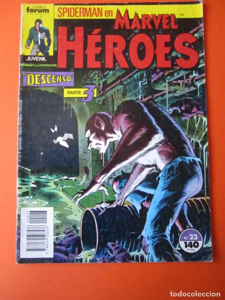 MARVEL HEROES (1987, PLANETA-DEAGOSTINI) 23 · XI-1988 · SPIDERMAN (Tebeos y Comics - Planeta)