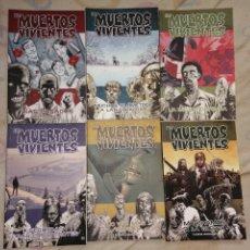 Cómics: LOS MUERTOS VIVIENTES. THE WALKING DEAD. TOMOS 1, 2, 3, 4, 5 Y 19. Lote 232149620
