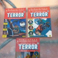 Cómics: BIBLIOTECA GRANDES DEL CÓMICS CLASICOS DE TERROR- PLANETA DEAGOSTINI, NUMEROS 1,5 Y 6. Lote 254356670