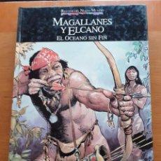 Cómics: RELATOS DEL NUEVO MUNDO. MAGALLANES Y EL CANO. LA TIERRA SIN FIN.. Lote 262717720