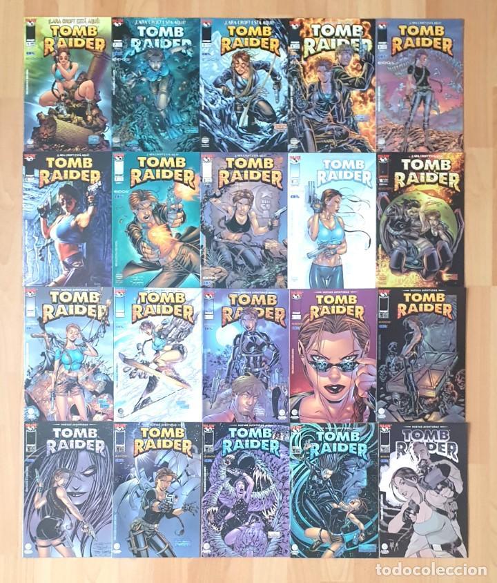 TOMB RAIDER V1 Y V2 DE DAN JURGENS. COLECCIONES COMPLETAS. 20 COMICS. WORLD COMICS 2000 (Tebeos y Comics - Planeta)
