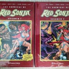 Cómics: LAS CRÓNICAS DE RED SONJA TOMOS 1+2 TAPA DURA PLANETA CÓMIC ROY THOMAS, FRANK THORNE, BRUCE JONES.... Lote 273127138