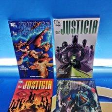 Cómics: LOTE 4 NUMEROS JUSTICIA , 1 AL 4-DC COMICS ALEX ROSS. Lote 277257633