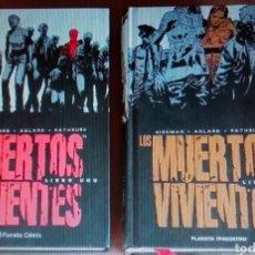 Cómics: LOS MUERTOS VIVIENTES LIBRO 1 Y 2 - INTEGRAL - PLANETA - NUEVOS. Lote 279462498