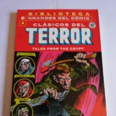 Cómics: CLASICOS DEL TERROR NUM 4 - BIBLIOTECA GRANDES DEL COMIC. Lote 295476723