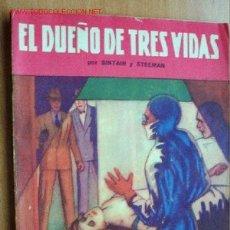 Cómics: EL DUEÑO DE TRES VIDAS - SINTAIR Y STEEMAN - LA NOVELA AVENTURA Nº 19 - HYMSA 1934. Lote 19482110