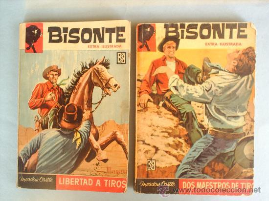 DOS NOVELAS BISONTE EXTRA ILUSTRADA -BRUGUERA-CON FOTO DETRAS 455-485 (Tebeos, Comics y Pulp - Pulp)