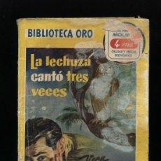 Cómics: BIBLIOTECA ORO SERIE AMARILLA Nº 341. LA LECHUZA CANTÓ TRES VECES POR VENA KELSEY . MOLINO 1956. Lote 14334354