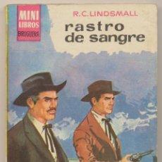 Cómics: SERIE OESTE Nº 119. RASTRO DE SANGRE POR R.C. LINDSMALL .MINI LIBROS BRUGUERA 1963.. Lote 15524191