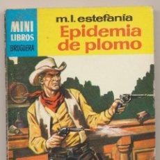 Cómics: SERIE OESTE Nº 447. EPIDEMIA DE PLOMO POR M.L.ESTEFANÍA. MINI LIBROS BRUGUERA 1966.. Lote 15527012