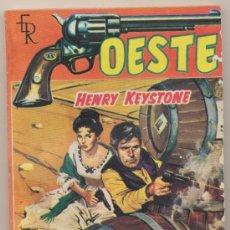 Comics: OESTE Nº 36. UN HOMBRE TOZUDO POR HENRY KEYSTONE.EDIT. ROLLÁN 1961.. Lote 27414942