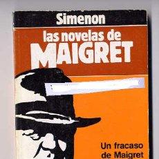 Cómics: UN FRACASO DE MAIGRET. GEORGES SIMENON. COL. LAS NOVELAS DE MAIGRET, Nº 7. FORUM, BARCELONA, 1987.. Lote 23643815