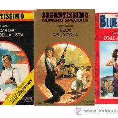 Cómics: LOTE 3X2 NOVELA PULP ITALIANO. SEGRETISSIMO / DESIRE BLUEMOON . (LOT.2). Lote 27515591