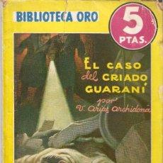 Cómics: EL CASO DEL CRIADO GUARANI - VICENTE ARIAS ARCHIDONA - N.149 - ED. MOLINO - 1943. Lote 289002988