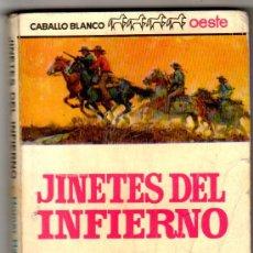 Cómics: CABALLO BLANCO OESTE EDI. BRUGUERA 1965, 168 PGS. JINETES DEL INFIERNO POR HOMER HATTEN. Lote 27971290