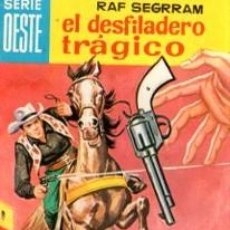 Cómics: SERIE OESTE, RAF SEGRRAM, EL DESFILADERO TRÁGICO, Nº 45, MINI LIBROS BRUGUERA. Lote 31978410