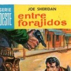 Cómics: SERIE OESTE, JOE SHERIDAN, ENTRE FORAJIDOS, Nº 38, MINI LIBROS BRUGUERA. Lote 31978605