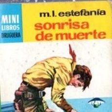 Cómics: SERIE OESTE, M.L.ESTEFANÍA, SONRISA DE MUERTE, Nº 765, MINI LIBROS BRUGUERA, 1ª EDICIÓN . Lote 31990117