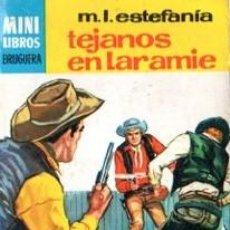 Cómics: SERIE OESTE, M.L.ESTEFANÍA, TEJANOS EN LARAMIE, Nº 761, MINI LIBROS BRUGUERA, 1ª EDICIÓN . Lote 31990187