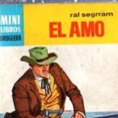 Cómics: SERIE OESTE, RAF SEGRRAM, EL AMO, Nº 766, MINI LIBROS BRUGUERA, 1ª EDICIÓN . Lote 31990215