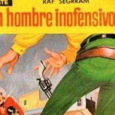 Cómics: SERIE OESTE, RAF SEGRRAM, UN HOMBRE INOFENSIVO, Nº 17, MINI LIBROS BRUGUERA, 1ª EDICIÓN . Lote 31990306