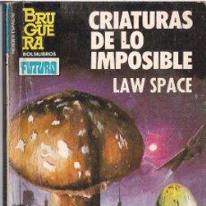 Cómics: HEROES DEL ESPACIO Nº 193 CRIATURAS DE LO IMPOSIBLE POR LAW SPACE. BRUGUERA. Lote 32330375