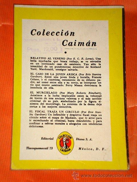 Cómics: FRENTE AL CRIMEN. FRANCES Y RICHARD LOCKRIDGE. CAIMÁN Nº 21. DIANA, MÉXICO 1957. PORTADA VELARDE. ++ - Foto 2 - 34269916