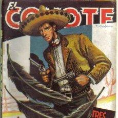 Cómics: EL COYOTE Nº 55. TRES PLUMAS NEGRAS. CLIPER 1947. Lote 35914266