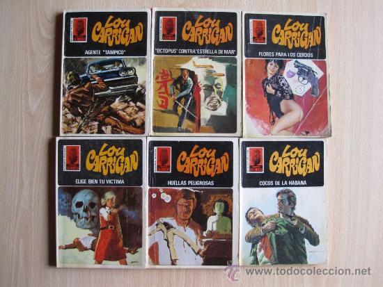 LOTE DE 6 NOVELAS DE LOU CARRIGAN - SERIE LA HUELLA (Tebeos, Comics y Pulp - Pulp)