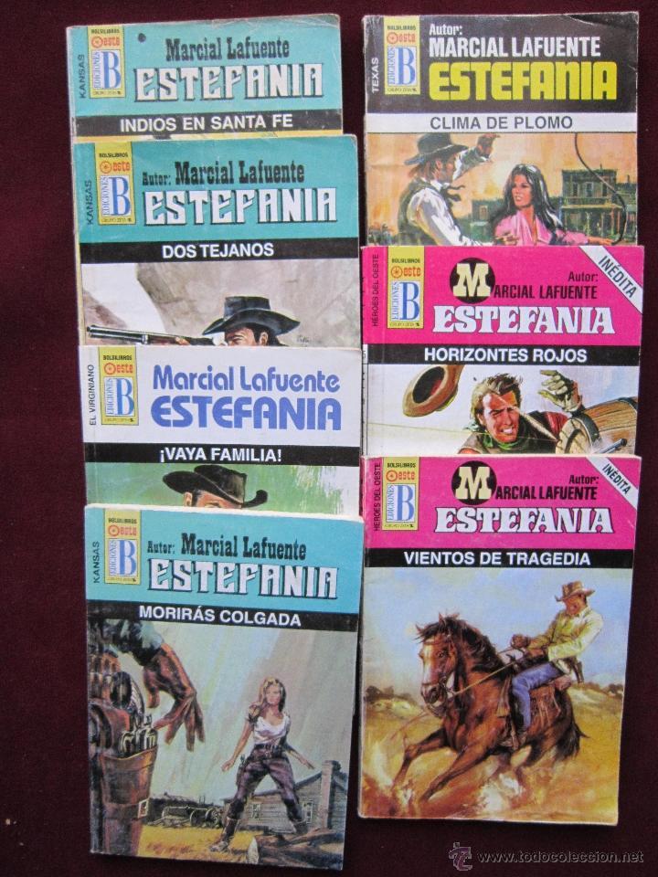 LOTE 7 NOVELAS DE MARCIAL LAFUENTE ESTEFANIA. EDICIONES B. VARIAS COLECCIONES (Tebeos, Comics y Pulp - Pulp)