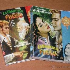 Comics: LA DIADEMA DE FUEGO 2 VOLUMES. MARISA VILLARDEFRANCOS. BIBLIOTECA CHICAS. EDICIONES CID 1956. JANO. . Lote 41312498