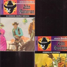 Cómics: BOLSILIBROS OESTE, JOHN MASTERSON, LOTE DE 2 EJEMPLARES - NOVELAS DEL OESTE. Lote 43975518