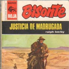 Cómics: BISONTE SERIE ROJA Nº 1326 - EDI. BRUGUERA - RALPH BARBY - JUSTICIA DE MADRUGADA. Lote 44048758