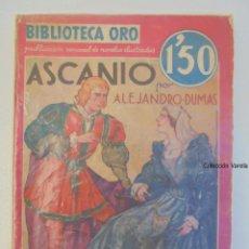 Comics: BIBLIOTECA ORO - ASCANIO - ALEJANDRO DUMAS - MOLINO - ROJA - AÑO II - Nº II 16. Lote 48868805