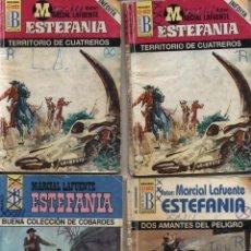 Cómics: M. L. ESTEFANÍA. LOTE DE 4 NOVELAS: HÉROES DEL OESTE 693(2) EL VIRGINIANO 231,BÚFALO 192.. Lote 49242392